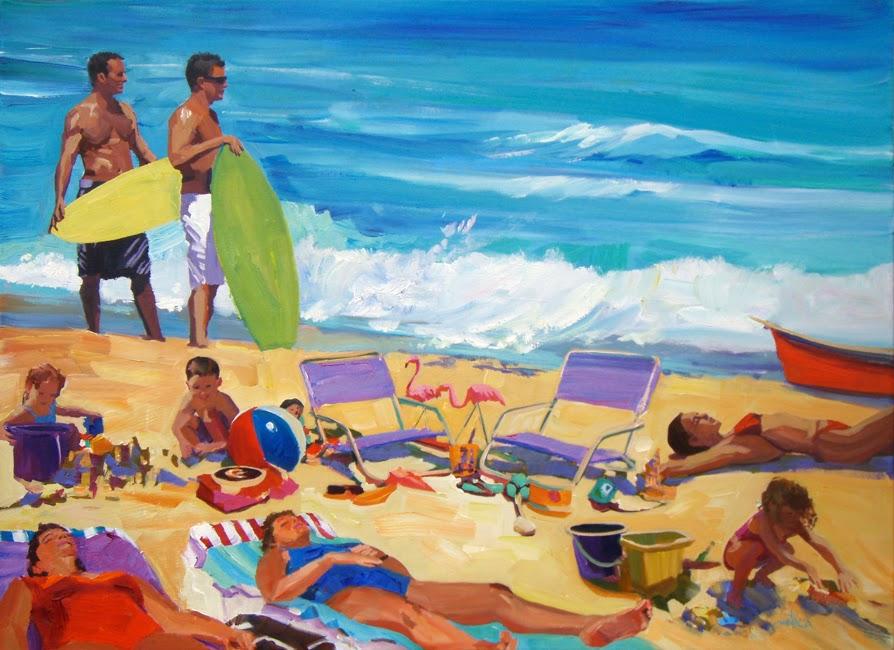 patti mollica paint whatever whenever beach scene