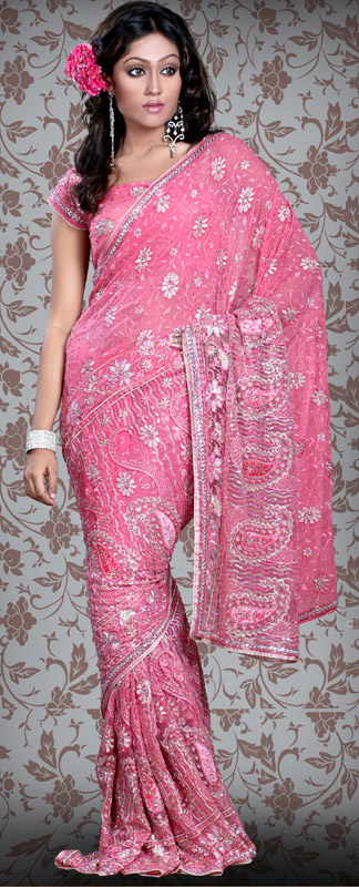 Shamshi India  city pictures gallery : ... shimmer georgette wedding saree designer sarees indian saree designs