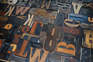 Wood type on press bed
