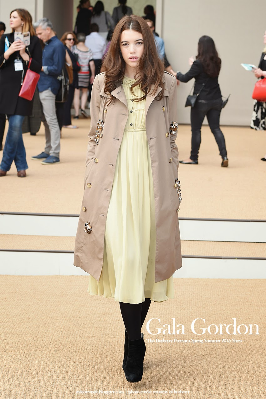 Gala Gordon Wearing Pastel Yellow Chiffon Dress
