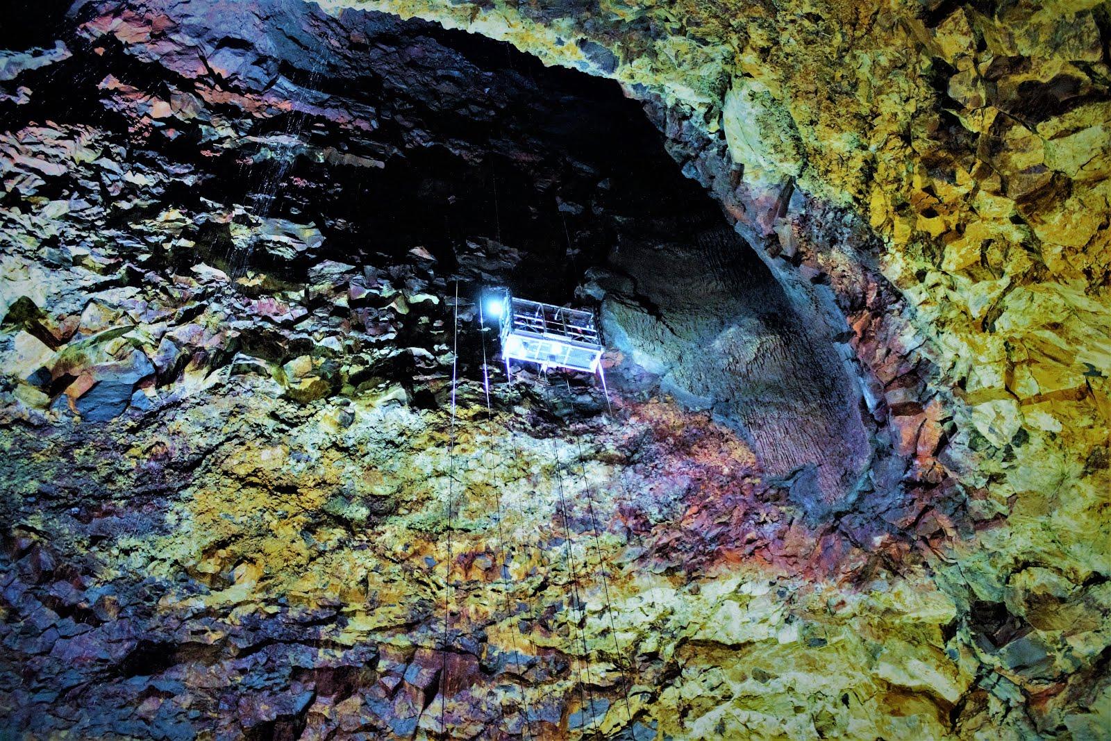 Inside Thrihnukagigur Volcano in Iceland
