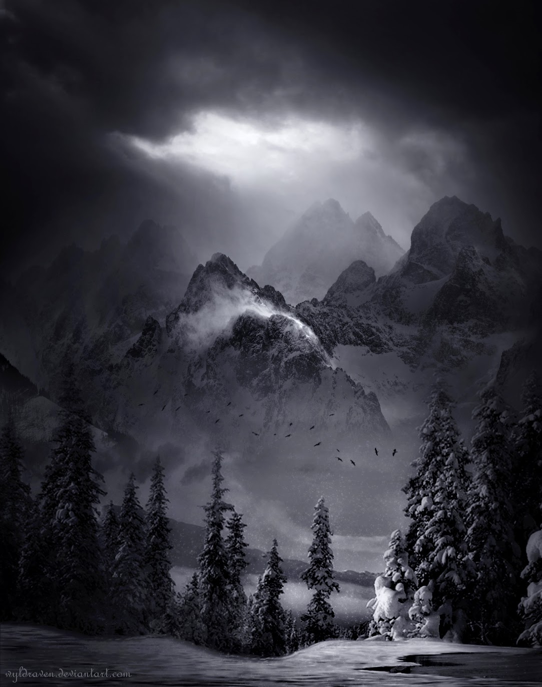 16-The-Winter-Kingdom-wyldraven-Surreal-Night-Time-Photo-Manipulation-www-designstack-co