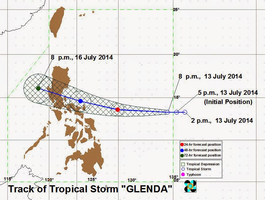 Signal No. 1 up in Catanduanes as Typhoon Glenda enters PAR