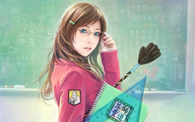 Beautiful School Girl CG Artwork Best Anime Desktop Wallpaper