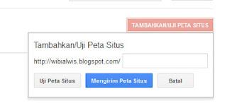 Menambah Peta Situs Di Webmaster Tools