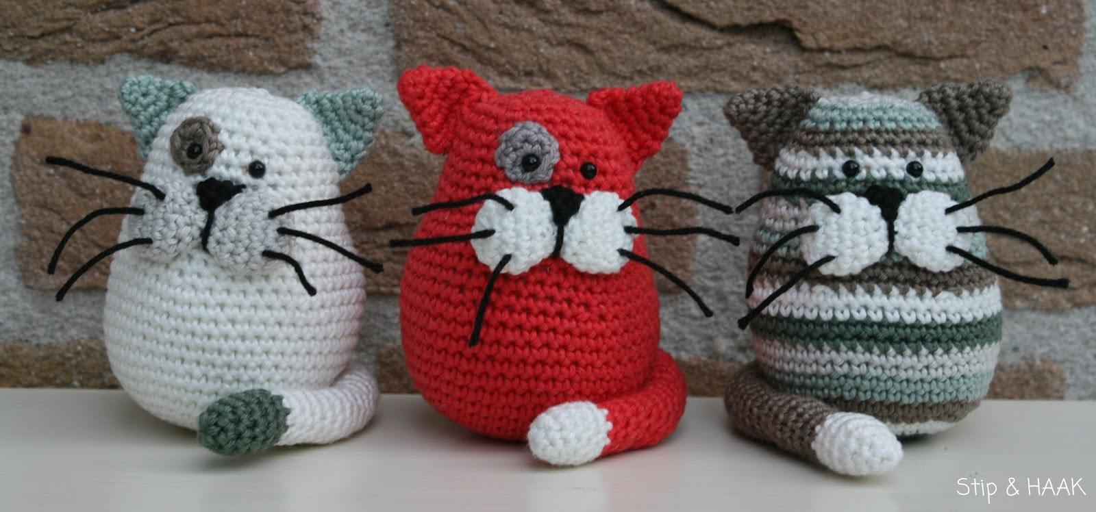 Mod le gratis amigurumi chat multicolore - Chats gratuits ...
