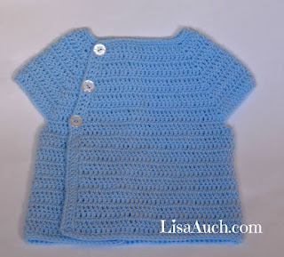 crochet baby cardigan sweater for a boy or girl free crochet pattern