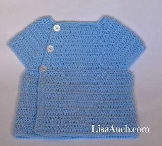 crochet baby cardigan sweater for a boy or girl free crochet pattern