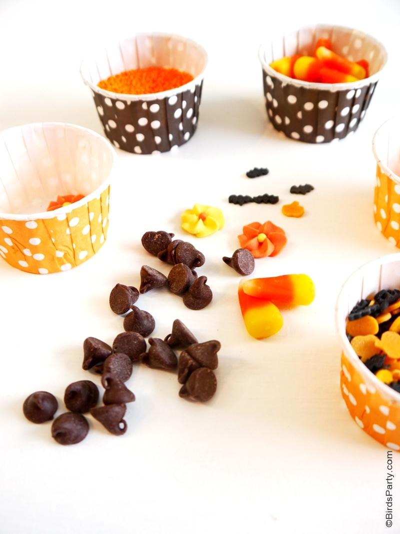 DIY Halloween Chocolate Bark Lollipops