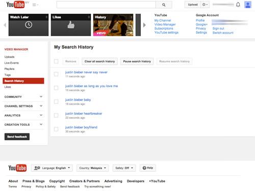 Cara Menghapus Sejarah Pencarian Youtube