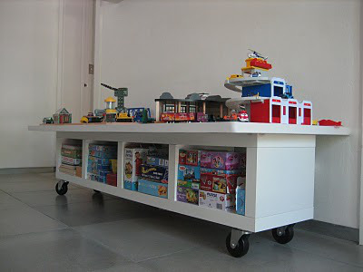 Homey home design game storage for Room and board kids table