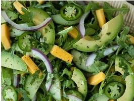 Recipe Salad with Avocado.