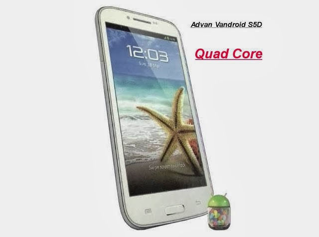 Advan Vandroid S5D Hp Android Quad-Core Murah