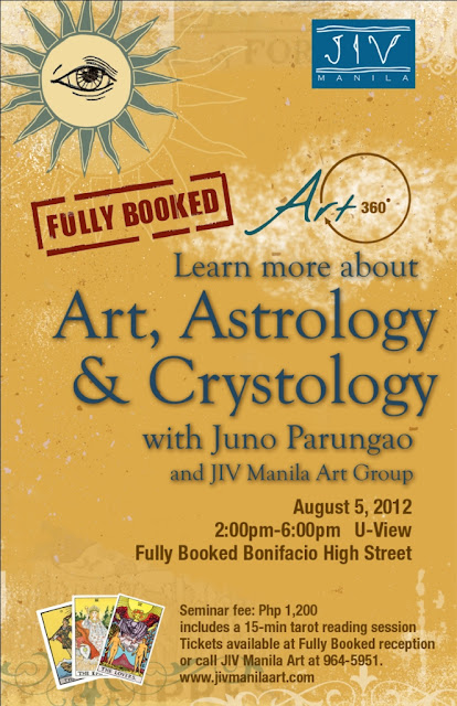 Juno Parungao's Art, Astrology and Crystology in Art-360 at Fully Booked Boni High