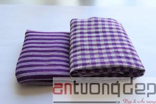 bán khăn rằn màu tím