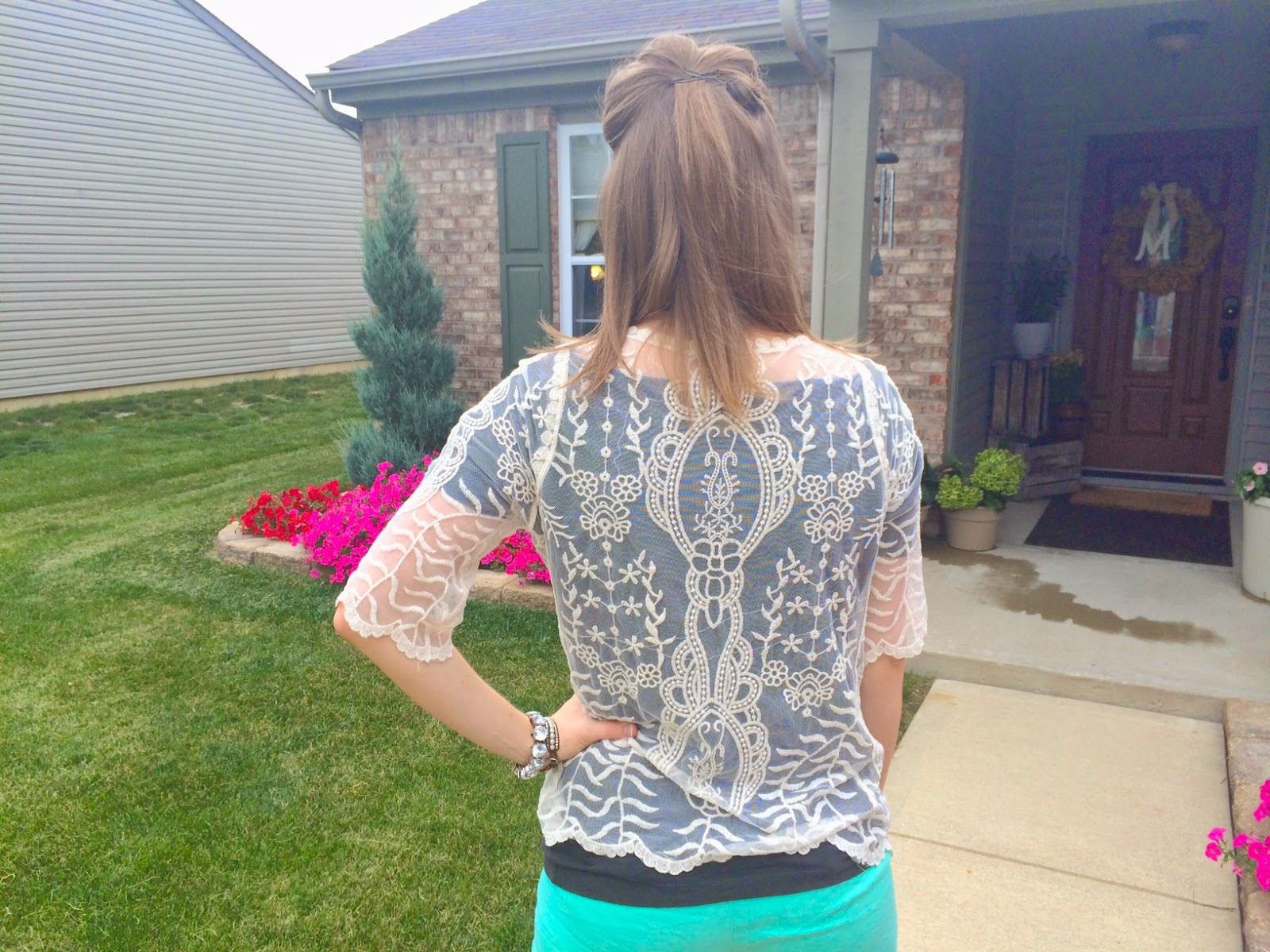 Summer Lace Top Outfit Of The Day