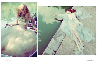 marie claire south africa, model zen sevastyanova, woman in boat, model laying near water