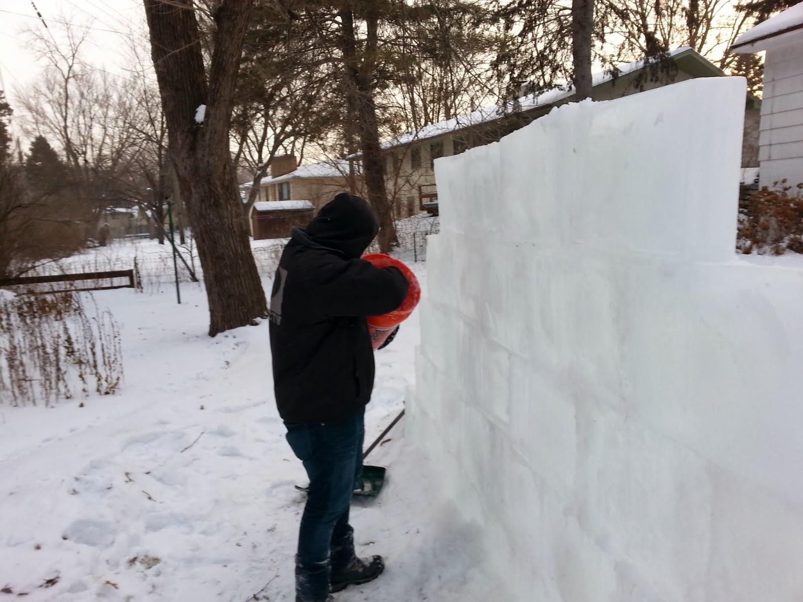 Blocks Of Ice Make A Bar
