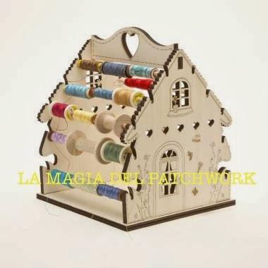 La magia del patchwork casita portahilos de patchwork - La casita del patchwork ...