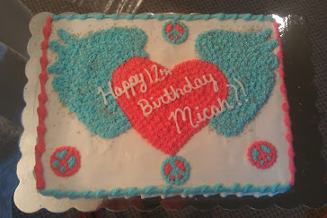 Heart and Wing birthday cake