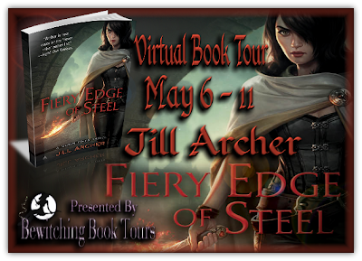 {Virtual Book Tour} Chapter One Sneak Peek of Fiery Edge of Steel by Jill Archer & Giveaway