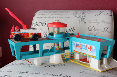 ce firetruck and airport from Goodwill Outlet The Merry Magpie Vintage