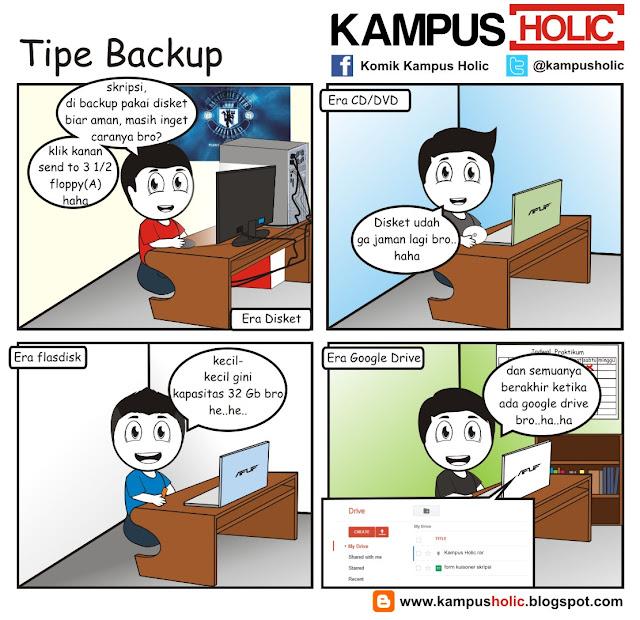 #150 komik Tipe Backup file skripsi