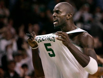 Boston Celtic's Kevin Garnett