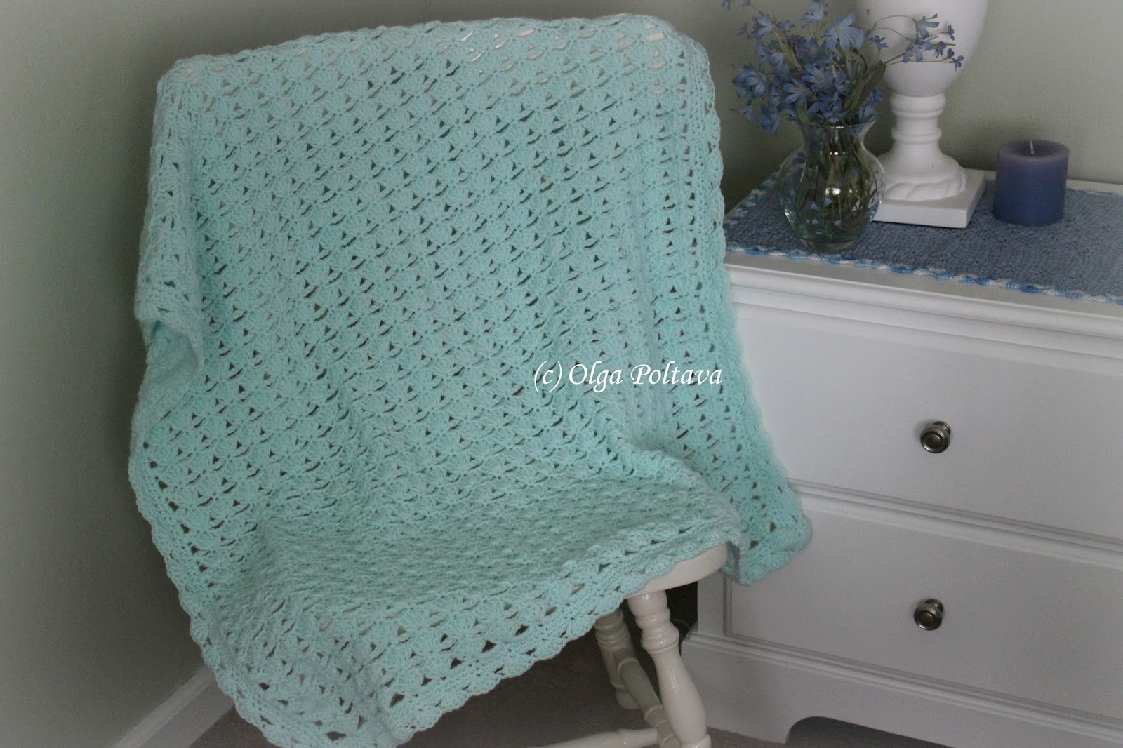 Crochet Patterns Baby Quilts : The blanket has lacy texture, yet its not too open. I used 100% ...