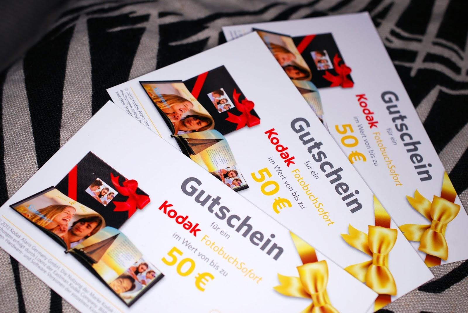 Gewinnspiel Gutschein Kodak FotobuchSofort
