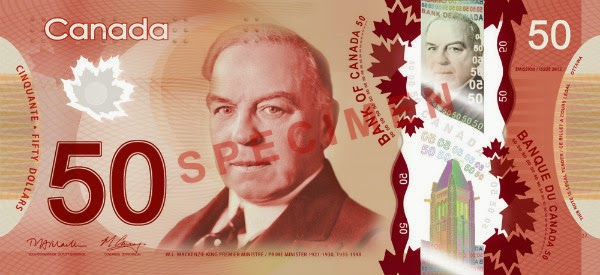 Canadian Polymer $50 bill