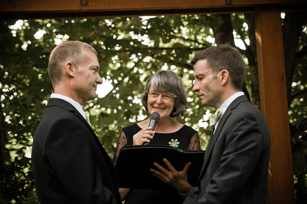 Mark and Mike's wedding ceremony officiated by Patricia Stimac, A Heavenly Ceremony