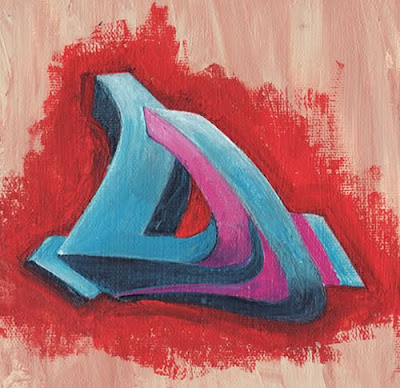 Alphabet, D, Grafffiti,