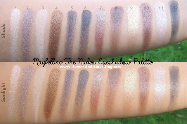 Maybelline The Nudes Eyeshadow Swatches Indian Skin