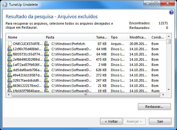 Restaurar arquivos excluídos com o TuneUp Undelete - 575x422