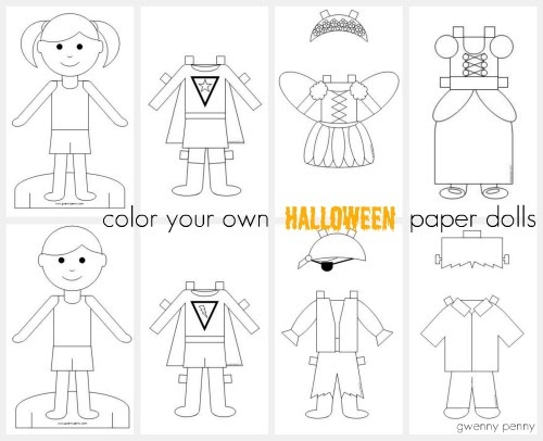 Gwenny penny printable color your own halloween paper dolls for Create your own penny