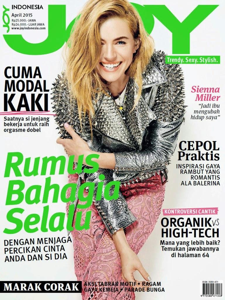 Actress, Fashion Designer, Model @ Sienna Miller - Joy Indonesia, April 2015