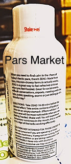 Back of the Kava Shot Zend Brand with Apple-Cinnamon Flavor at Pars Market located in Columbia, MD 21045
