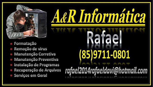 Rafael Monte, mais um técnico competente no mundo da informática em Aracoiaba-Ceará