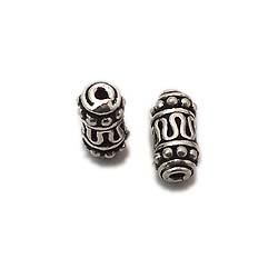 Solid sterling silver tube assorted beads