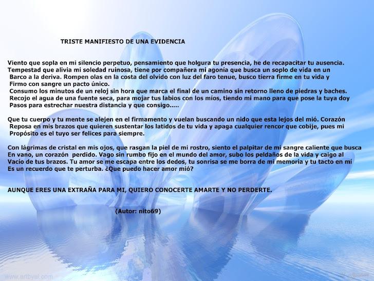 TRITE MANIFIESTO DE UNA EVIDENCIA