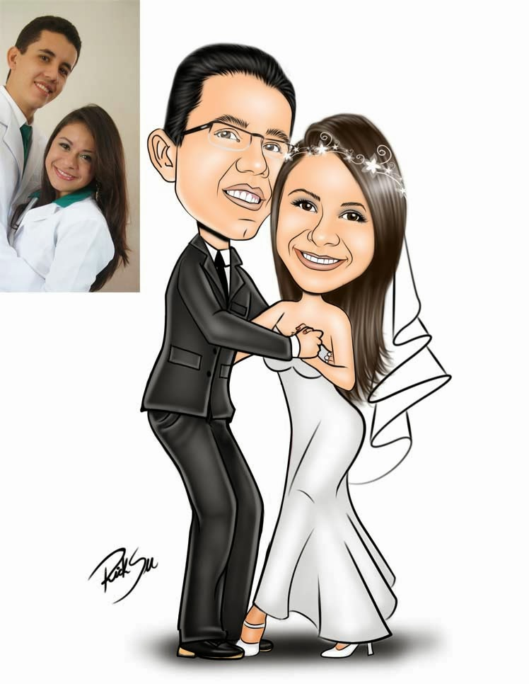 ricksu caricaturas para casamentos e festas