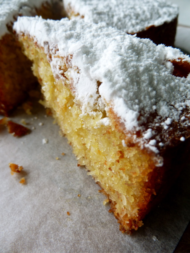 Biz and the Baby Bear: Banana and Coconut Polenta Cake. So ...