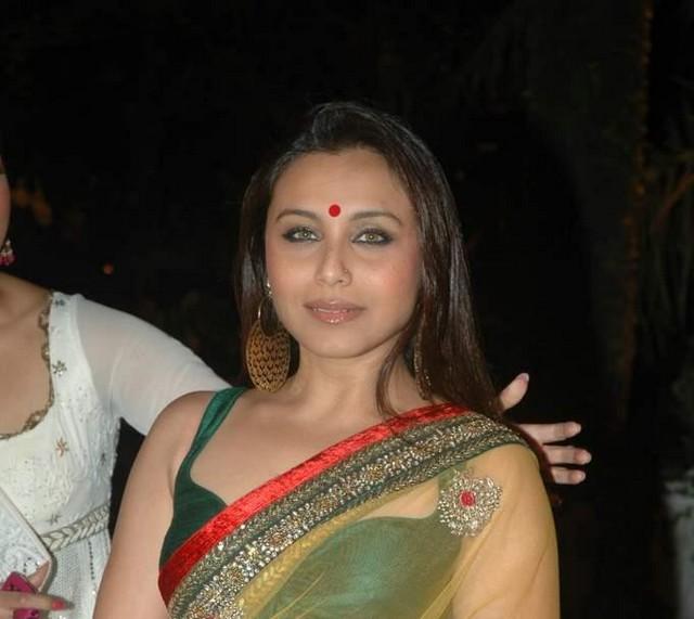 For that Rani mukherjee hot transparent saree
