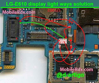 Lg-e610 Display light Not working problem solution    Lg-e610 Display Light Ways Solution Make This jumper Solve your Display light Problem easily. Chack This line. don't forget like and share with your friends. thanks for visit our site.