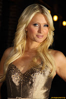 Paris Hilton at the late show with David Letterman