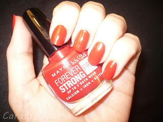 Maybelline Forever Red swatch review