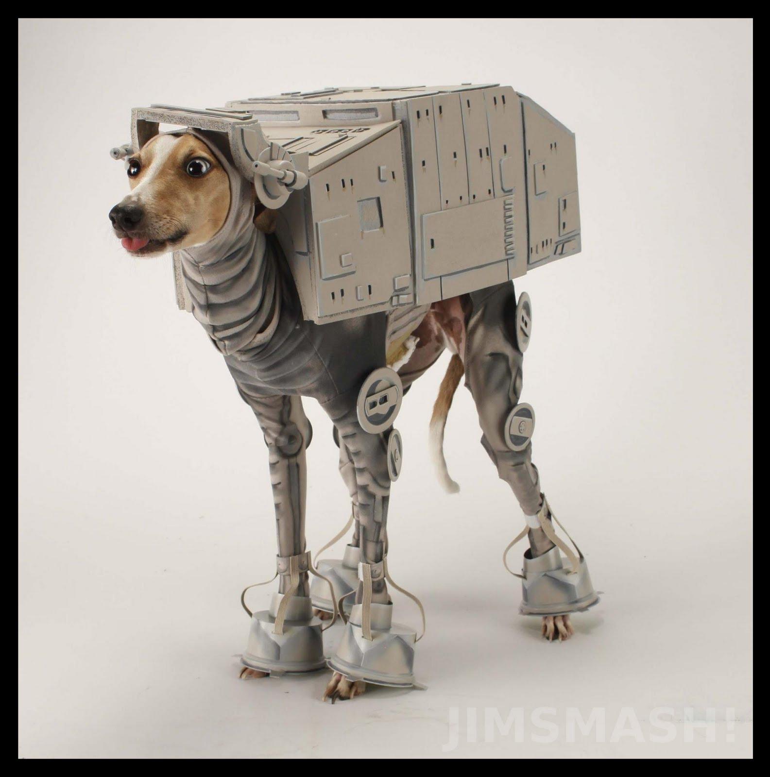 Xenomorph Dog Costume ATAT Dog : photoshopba...