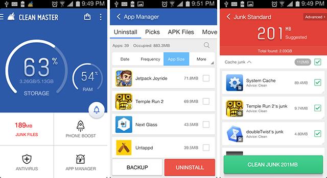 3 Aplikasi Cleaner Android Terbaik - clean-master