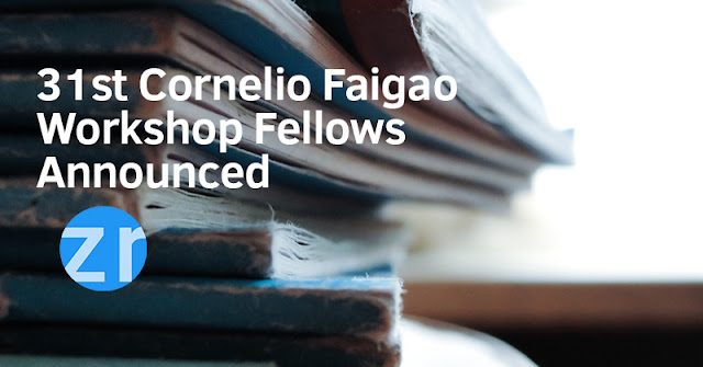 31st Cornelio Faigao Writing Workshop Fellow Announced